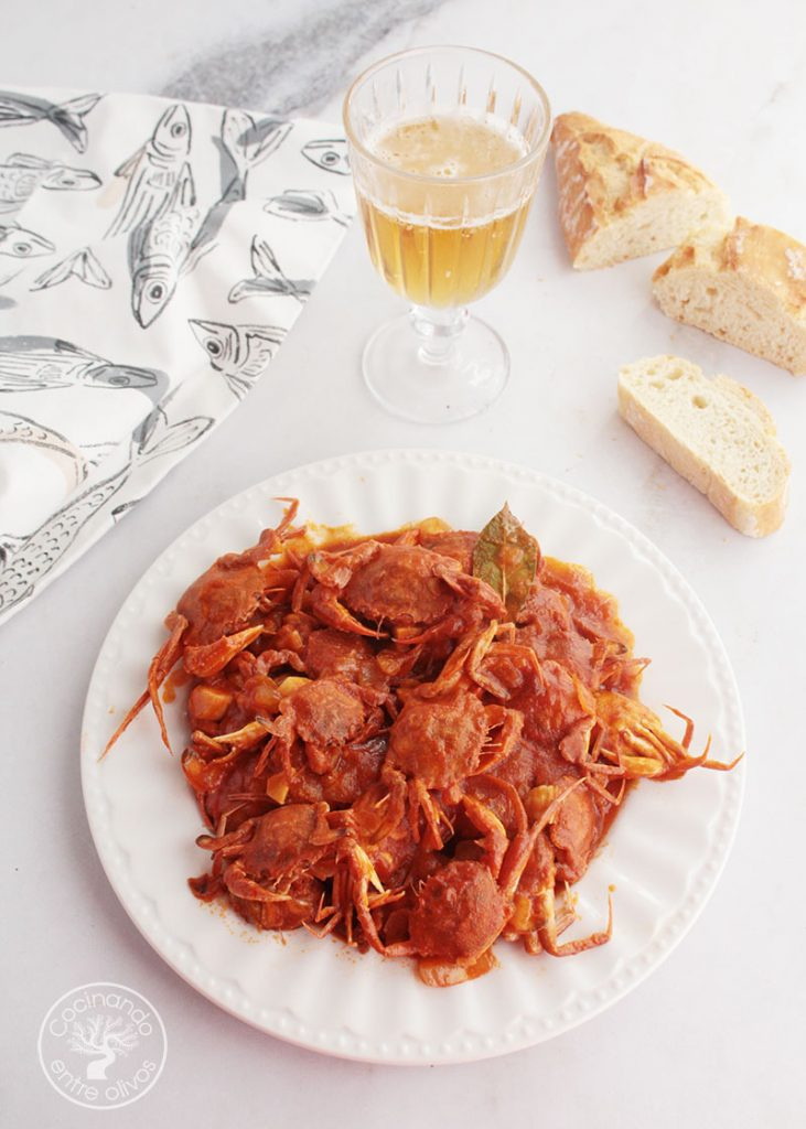 Cangrejos con tomate