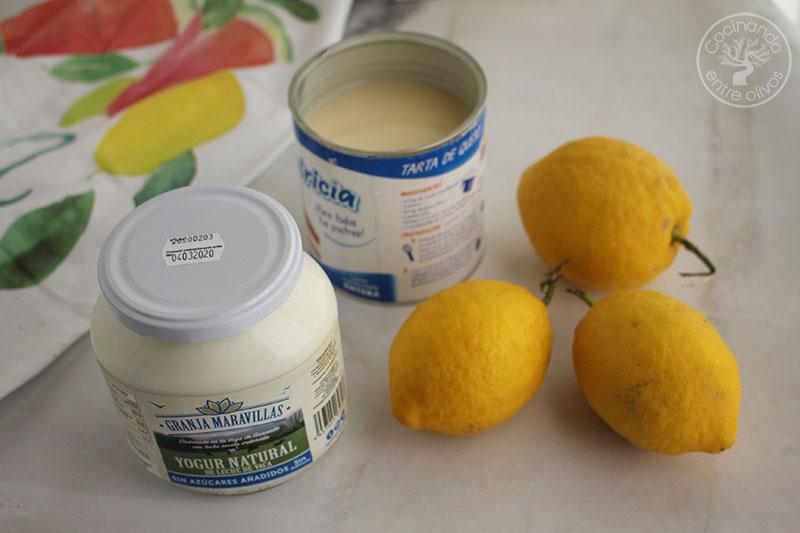 Crema de limón y yogur