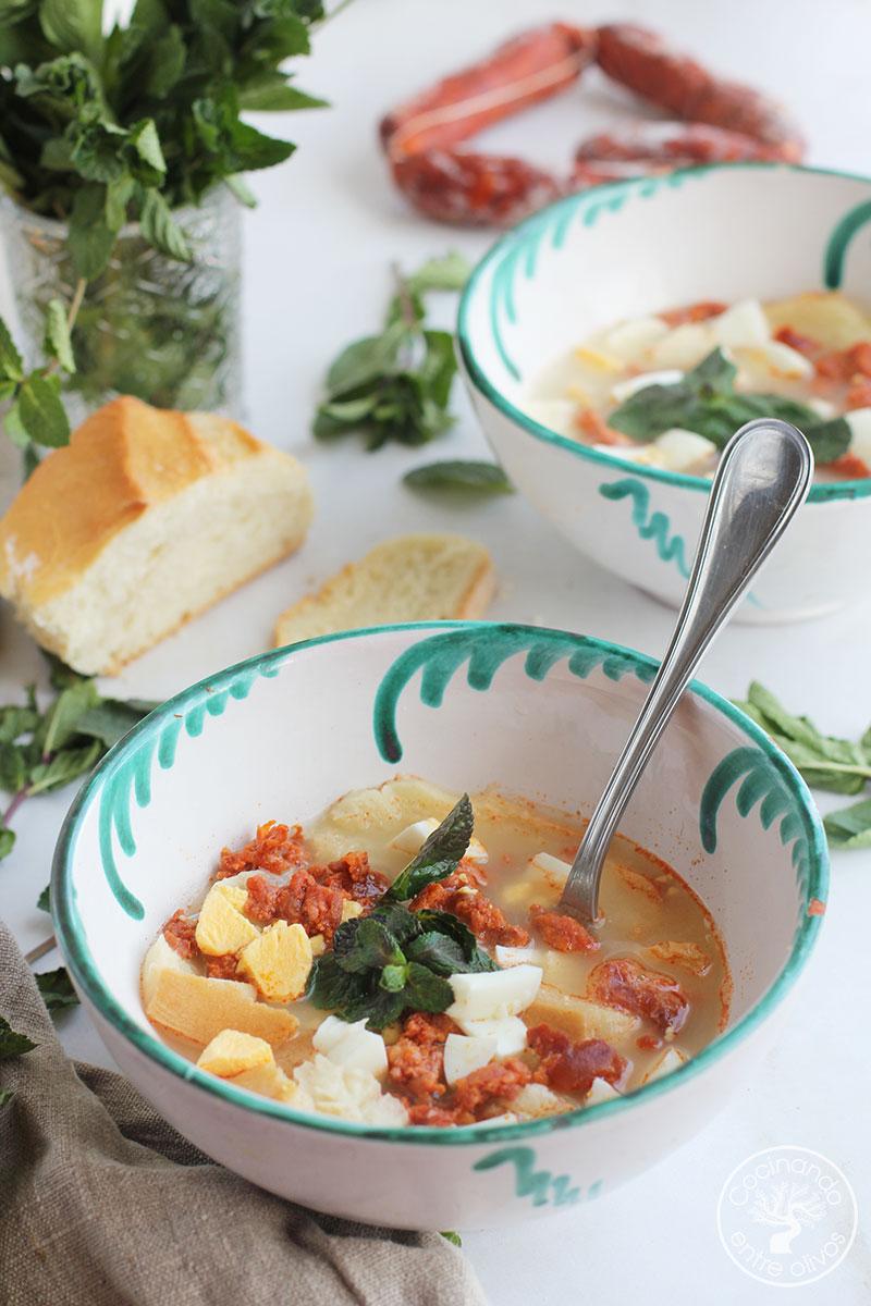 Receta de Sopa de Grazalema