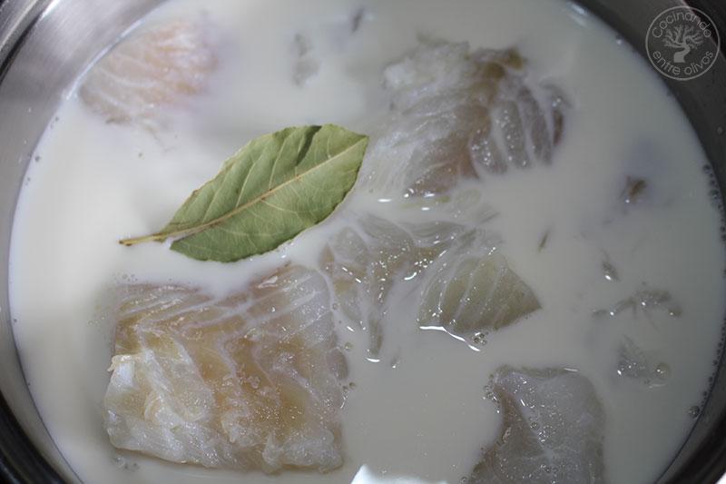 Bacalao a la nata receta