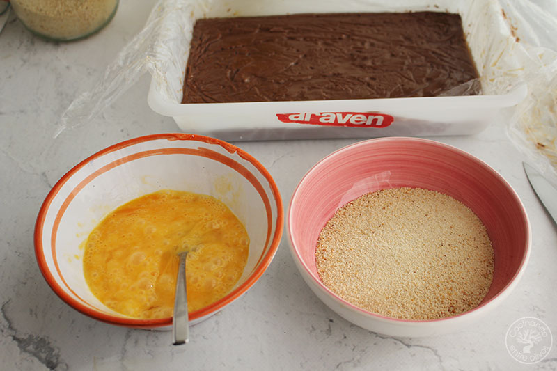 Leche frita de chocolate receta