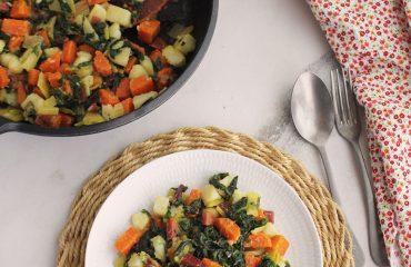 Acelgas con patatas y zanahorias