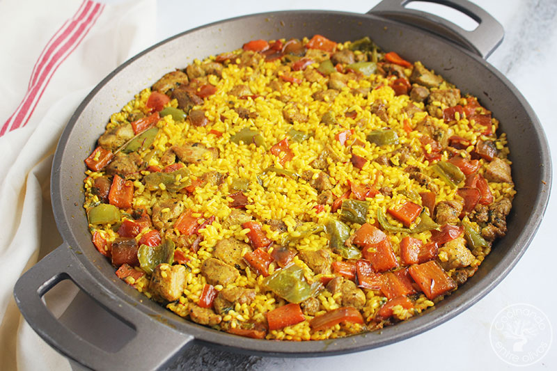 Arroz con pinchitos morunos