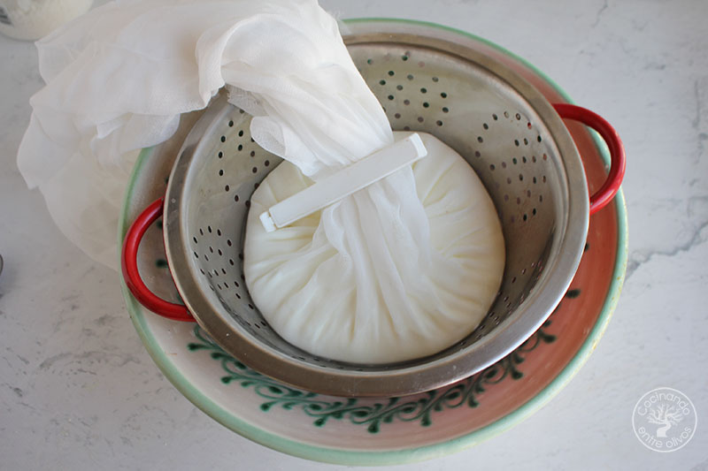 Labneh casero de yogur