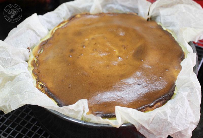 Tarta de queso azul