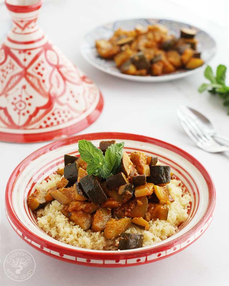 Calabacines al estilo marroquí
