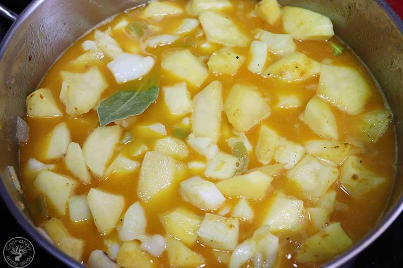 Patatas con choco