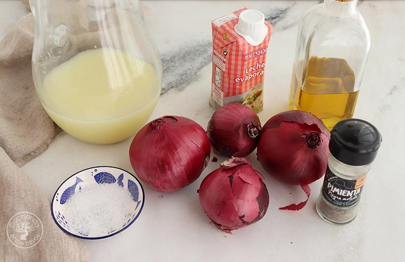 Crema de cebolla morada