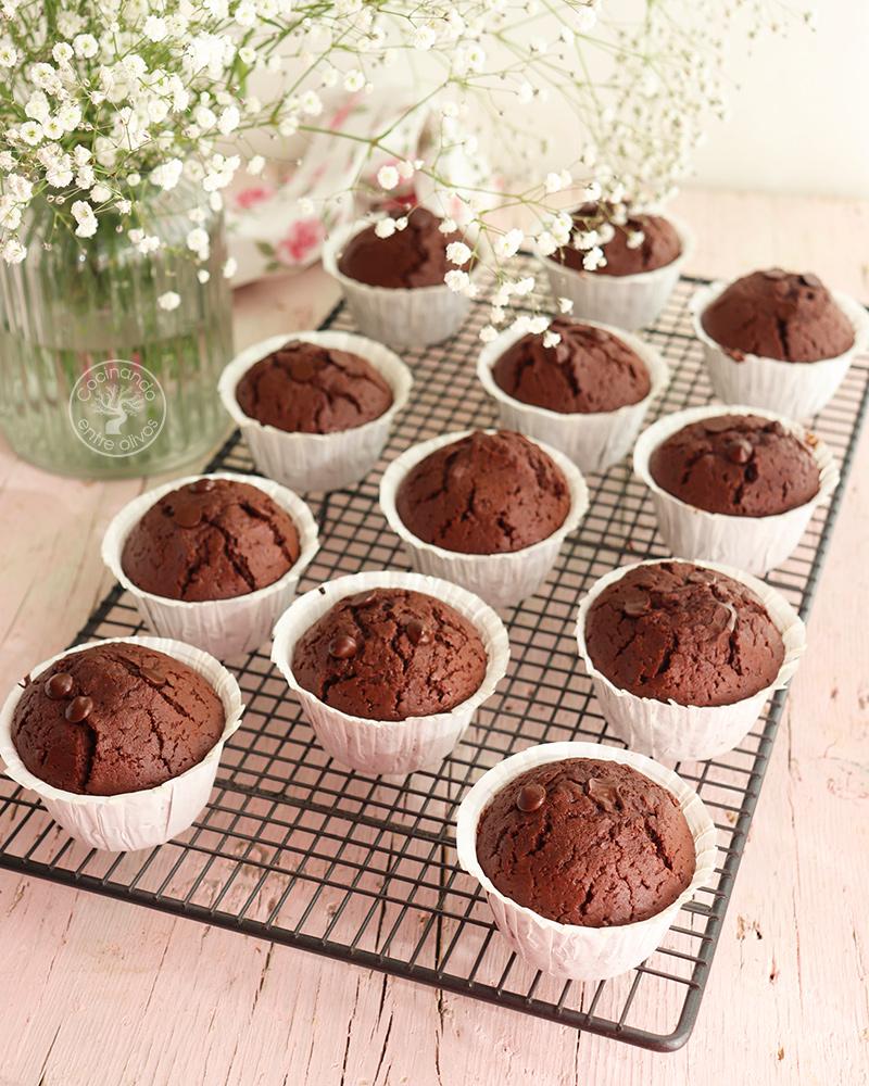 Muffins superchocolatosos