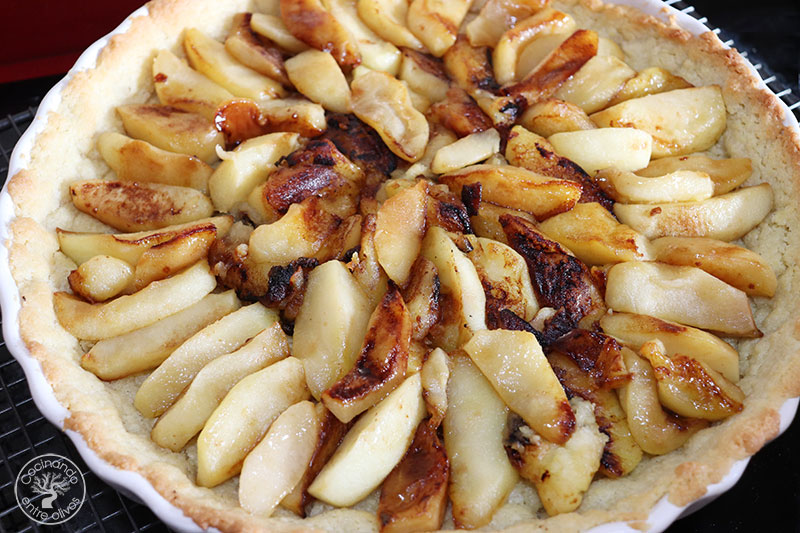 Tarta de manzana y almendra