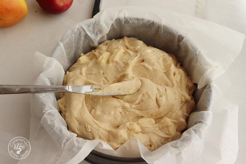 Bizcocho de manzana y queso