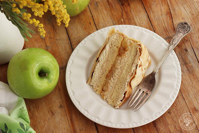 Tarta de manzana en crepes sorpresa