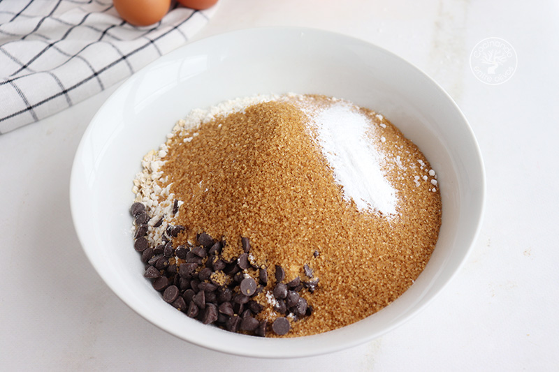 Galletas de avena con chocolate y aove de naranja