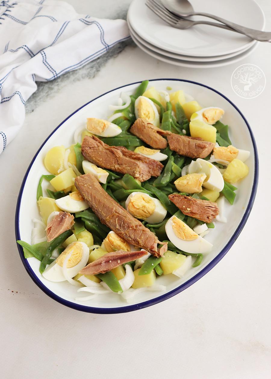 Ensalada de patata con judías verdes
