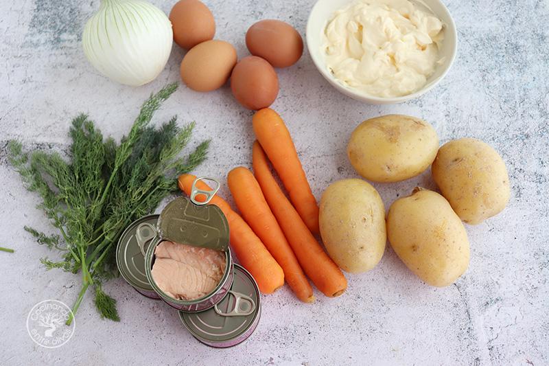Ingredientes Ensalada mimosa