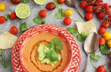 Gazpacho con un toque mexicano