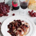 Solomillo de pavo con salsa de uvas y vino tinto